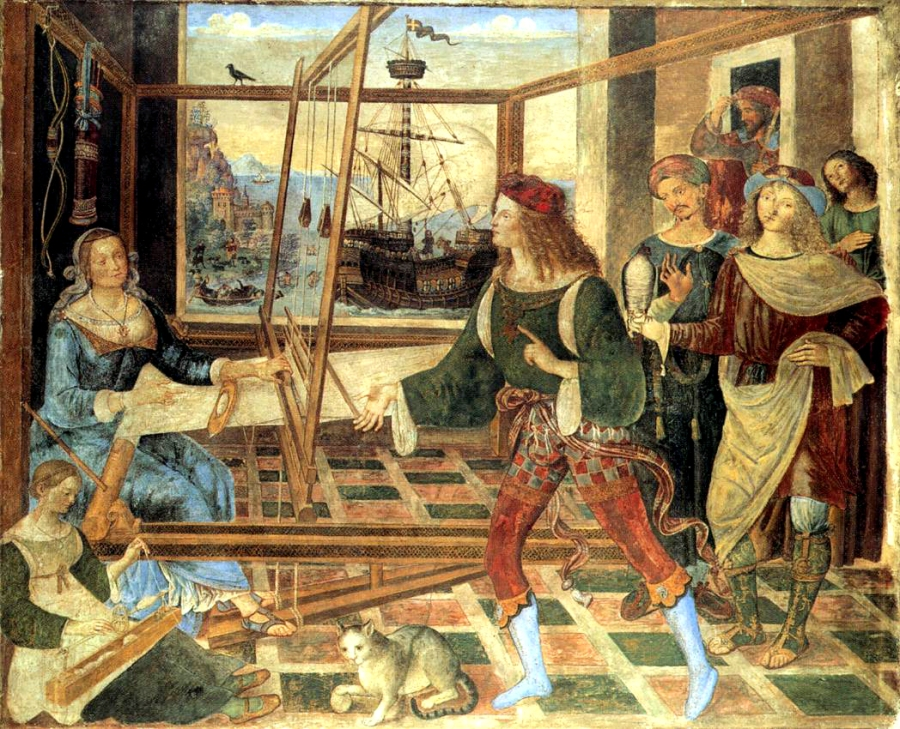 Pinturicchio, Penelope and the Suitors